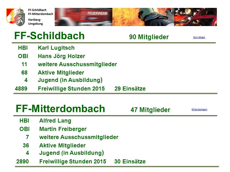 Strukturen im Bereich Hartberg 7 Abschnitte: Abschnitt 1: FF-Pöllau FF-Mitterdombach FF-Schildbach FF-Hartberg FF-Penzendorf BtF-Durmont Bereich
