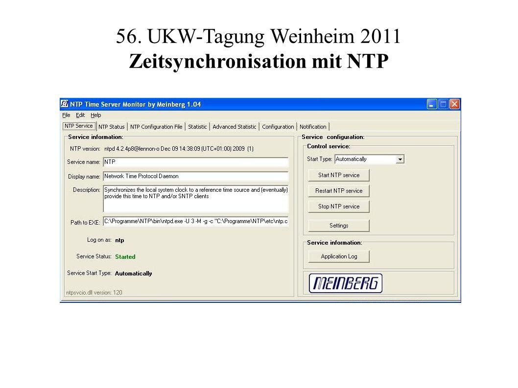 56. UKW-Tagung Weinheim 2011 Zeitsynchronisation mit NTP
