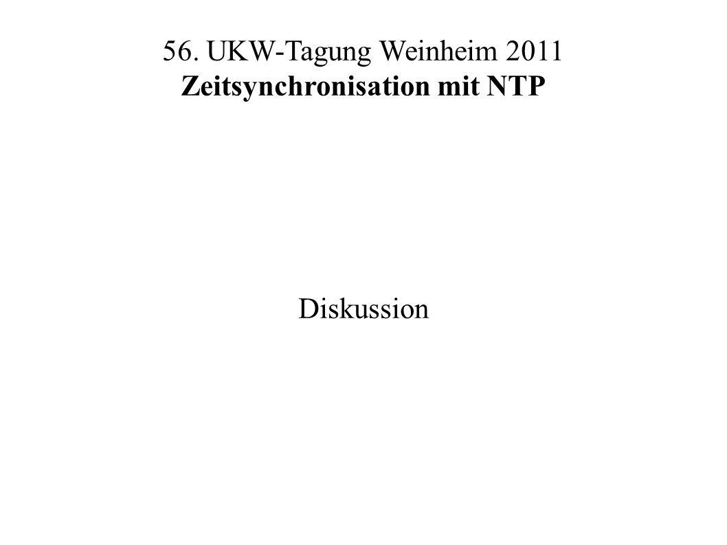 56. UKW-Tagung Weinheim 2011 Zeitsynchronisation mit NTP Diskussion