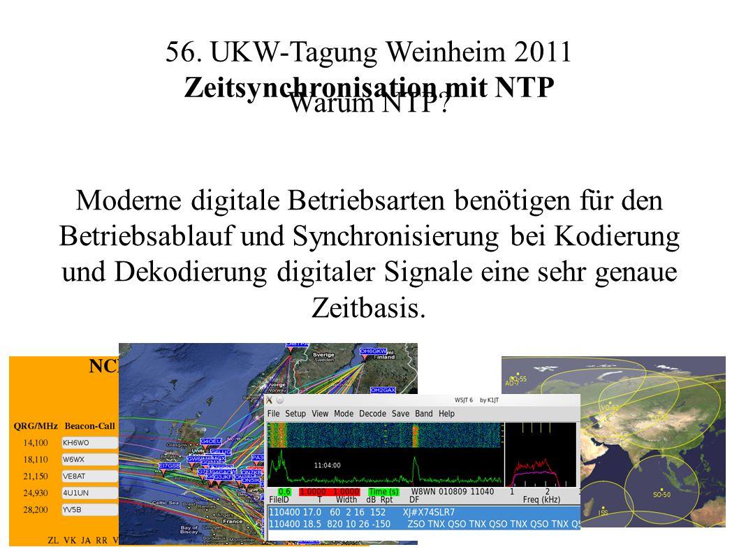56. UKW-Tagung Weinheim 2011 Zeitsynchronisation mit NTP Warum NTP.