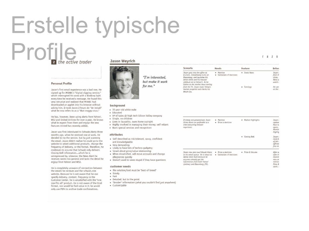 Erstelle typische Profile