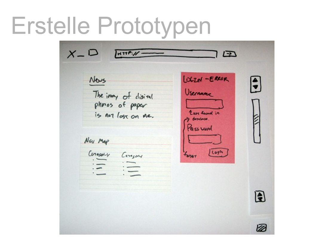 Erstelle Prototypen
