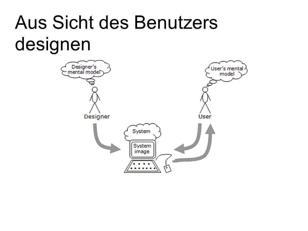 Aus Sicht des Benutzers designen