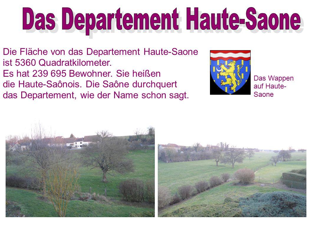 Die Fläche von das Departement Haute-Saone ist 5360 Quadratkilometer. Es hat 239 695 Bewohner. Sie heißen die Haute-Saônois. Die Saône durchquert das