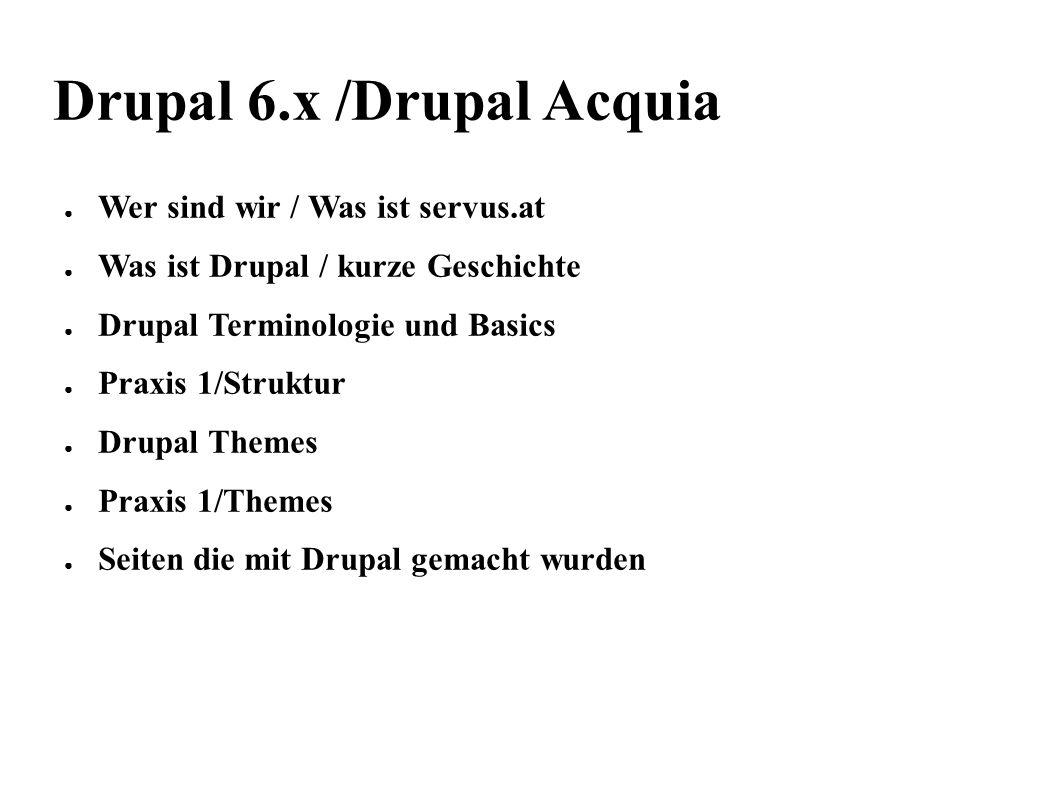 servus.at22 Praxis Editieren von Nodes / Inputformate Filtered HTML Von Drupal definierte Befehle, um einen Text zu formatieren.
