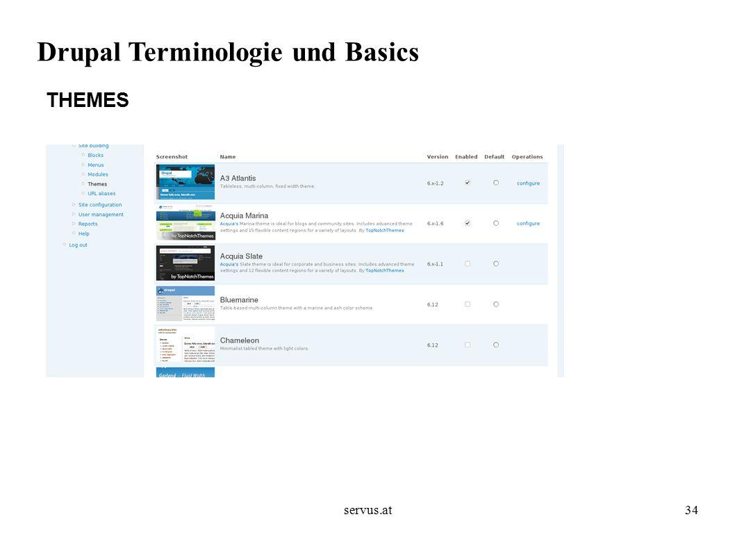 servus.at34 Drupal Terminologie und Basics THEMES