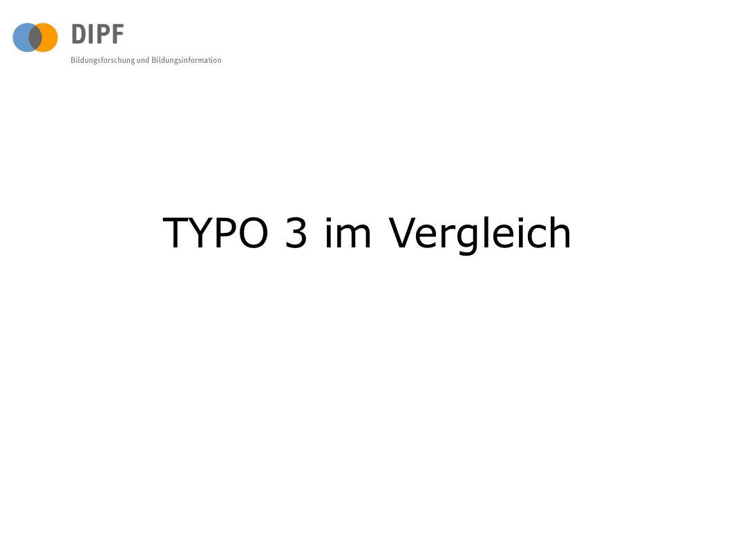 TYPO 3 im Vergleich