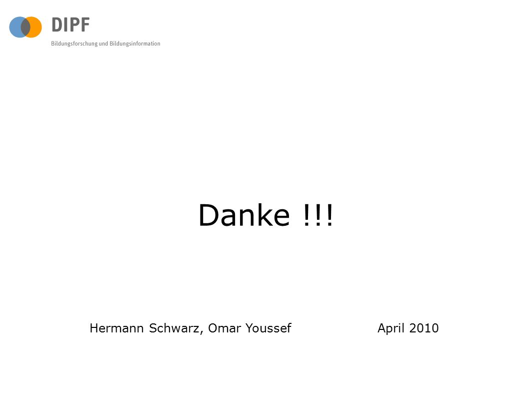 Danke !!! Hermann Schwarz, Omar Youssef April 2010