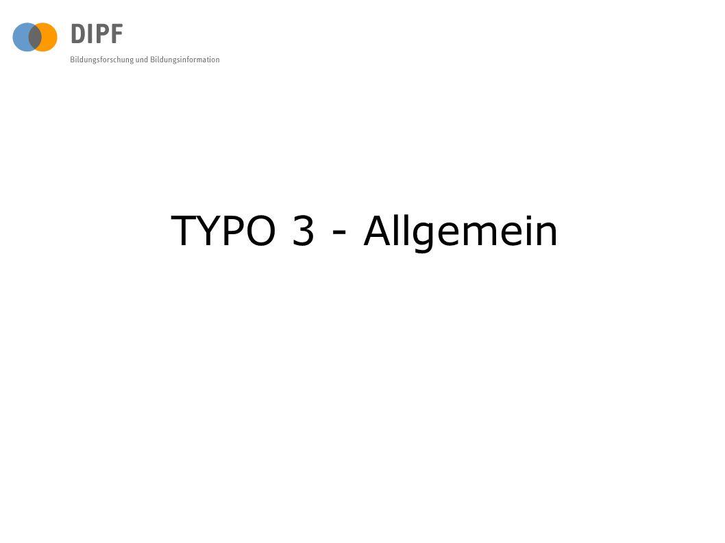 TYPO 3 - Allgemein