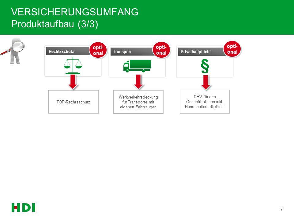 INHALT 18 ANWENDUNGS- RICHTLINIEN VERSICHERUNGS- UMFANG PRODUKT- PHILOSOPHIE VERTRIEBLICHE HIGHLIGHTS KERNBEGRIFFE  Versicherte Branchen  Risikoein- schätzung  Entschädigungs- grenze  Produktaufbau  Highlights der Bausteine  Vorteile des Produktes für Sie und Ihre Kunden  Rabatt- möglichkeiten  Umbrella  Gründer-Paket  Goodies  Kernbegriffe rund um Compact