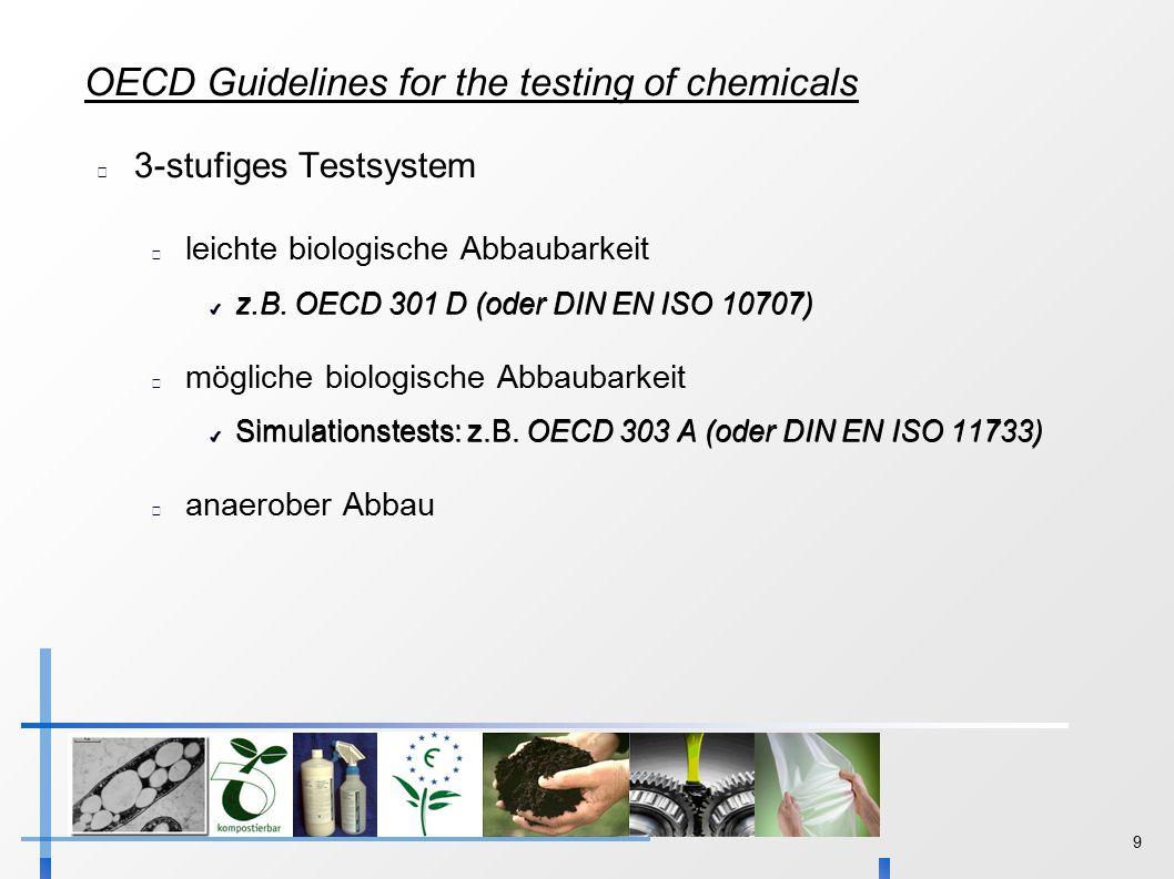 9 3-stufiges Testsystem leichte biologische Abbaubarkeit ✔ z.B.
