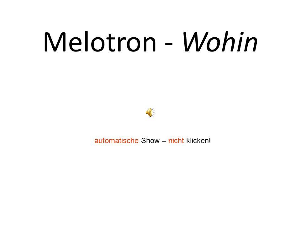 Melotron - Wohin automatische Show – nicht klicken!