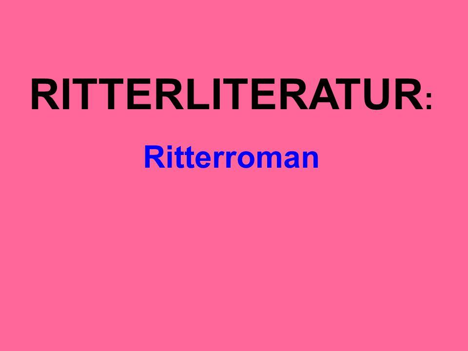 RITTERLITERATUR : Ritterroman