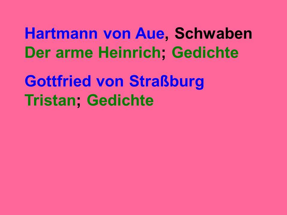 Gottfried von Straßburg Tristan; Gedichte
