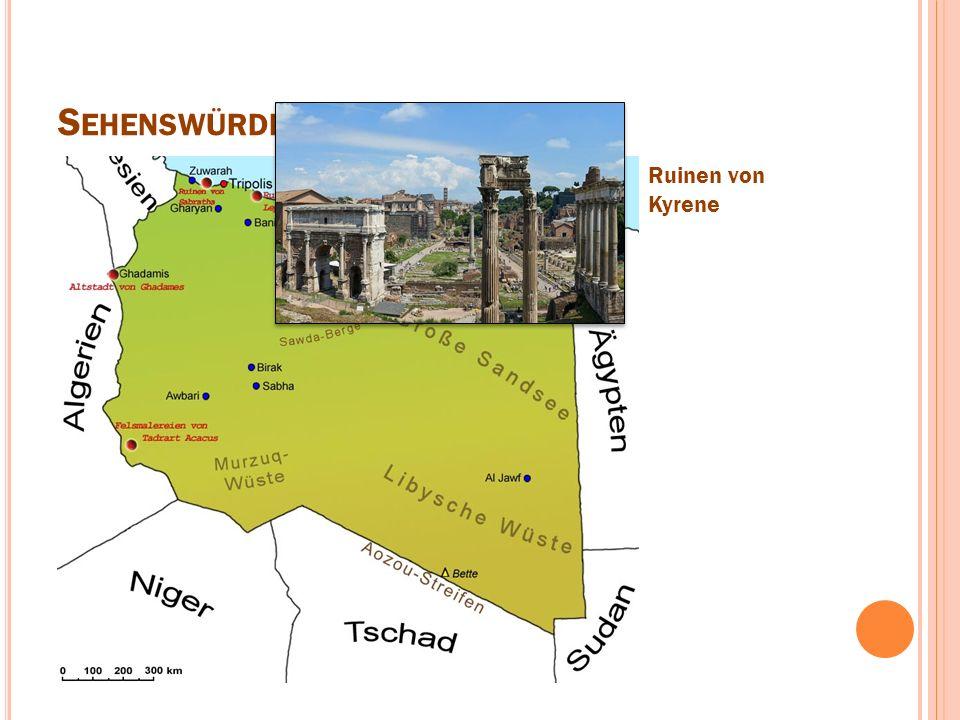 S EHENSWÜRDIGKEITEN Ruinen von Kyrene