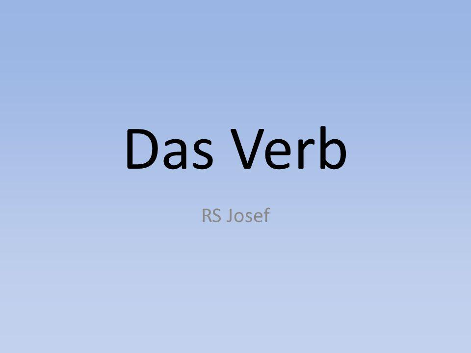 Das Verb RS Josef