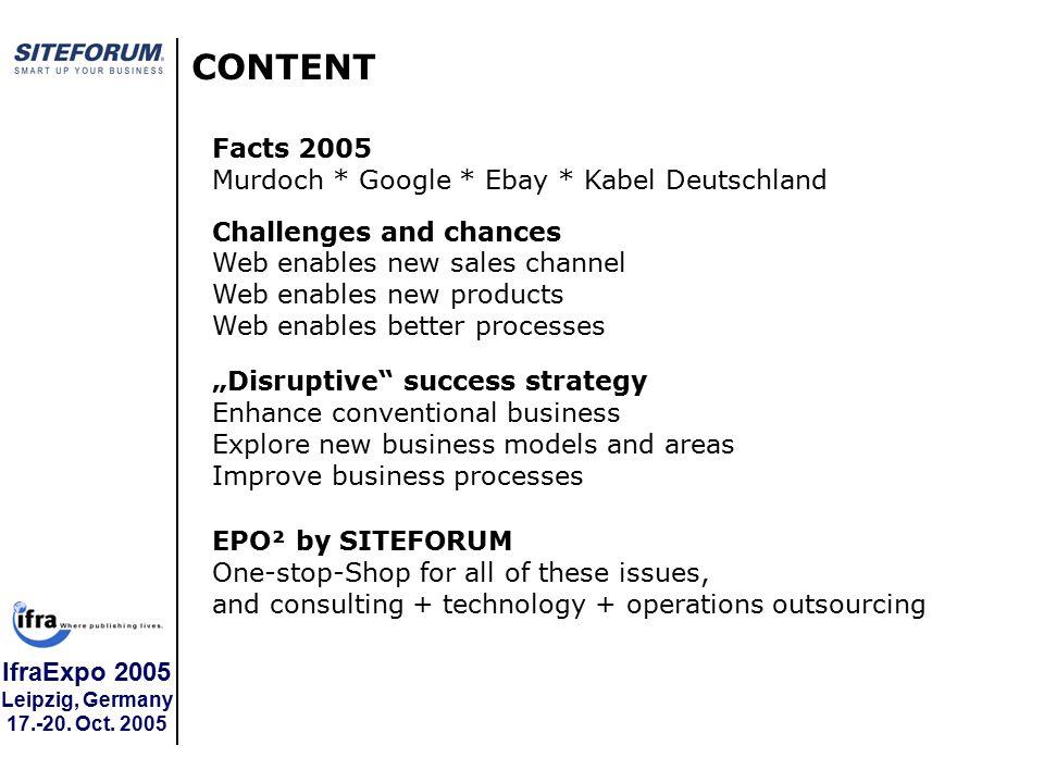 IfraExpo 2005 Leipzig, Germany 17.-20.Oct. 2005 Wir machen Ihnen den Prozess.