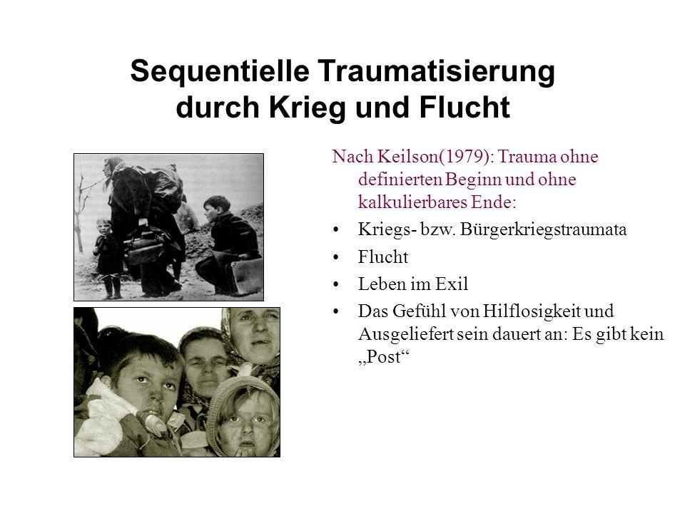 Sequentielle Traumatisierung durch Krieg und Flucht Nach Keilson(1979): Trauma ohne definierten Beginn und ohne kalkulierbares Ende: Kriegs- bzw.
