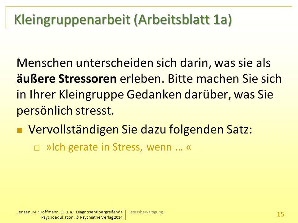 Jensen, M.; Hoffmann, G. u. a.: Diagnosenübergreifende Psychoedukation.