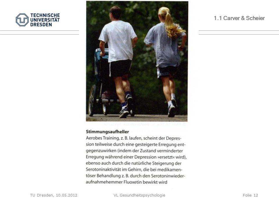 TU Dresden, 10.05.2012VL GesundheitspsychologieFolie 12 1.1 Carver & Scheier