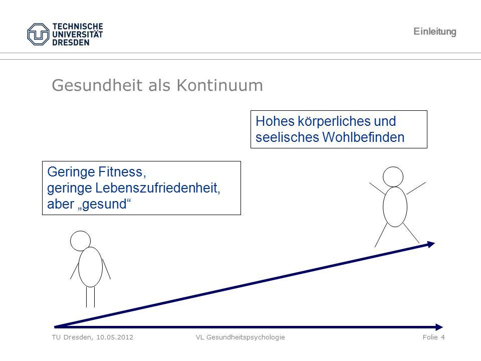 TU Dresden, 10.05.2012VL GesundheitspsychologieFolie 25 1.2 Seligman Ist Optimismus lernbar?