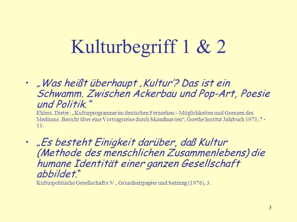 """3 Kulturbegriff 1 & 2 """"Was heißt überhaupt 'Kultur'."""