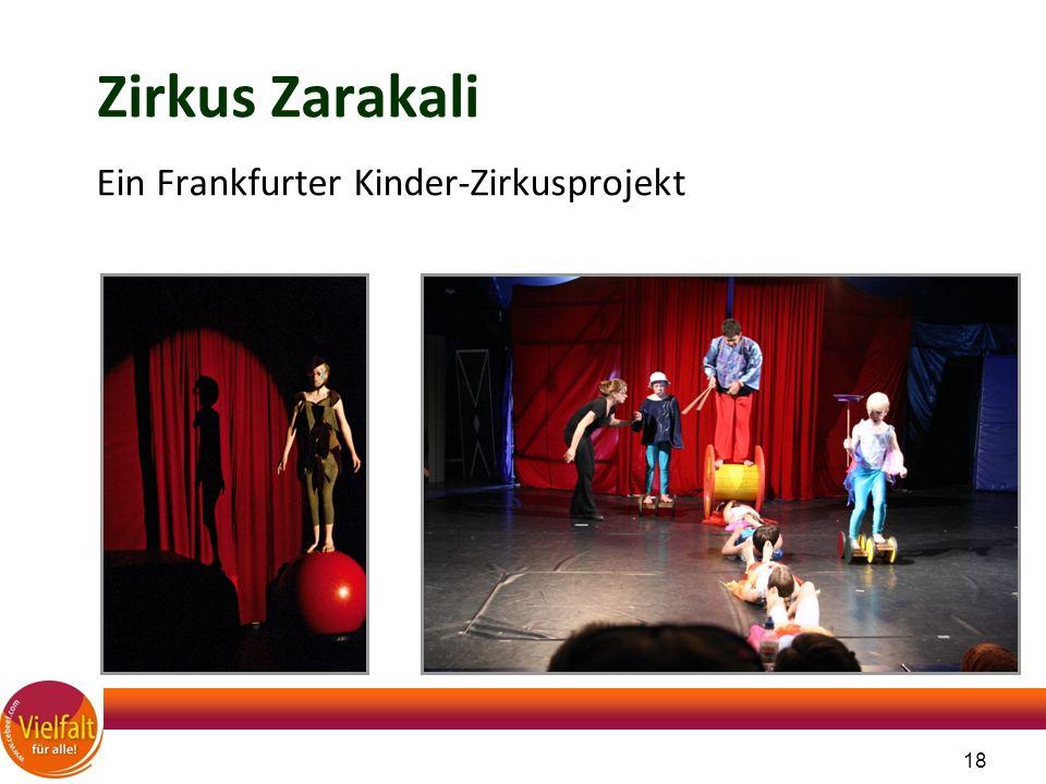 18 Zirkus Zarakali Ein Frankfurter Kinder-Zirkusprojekt