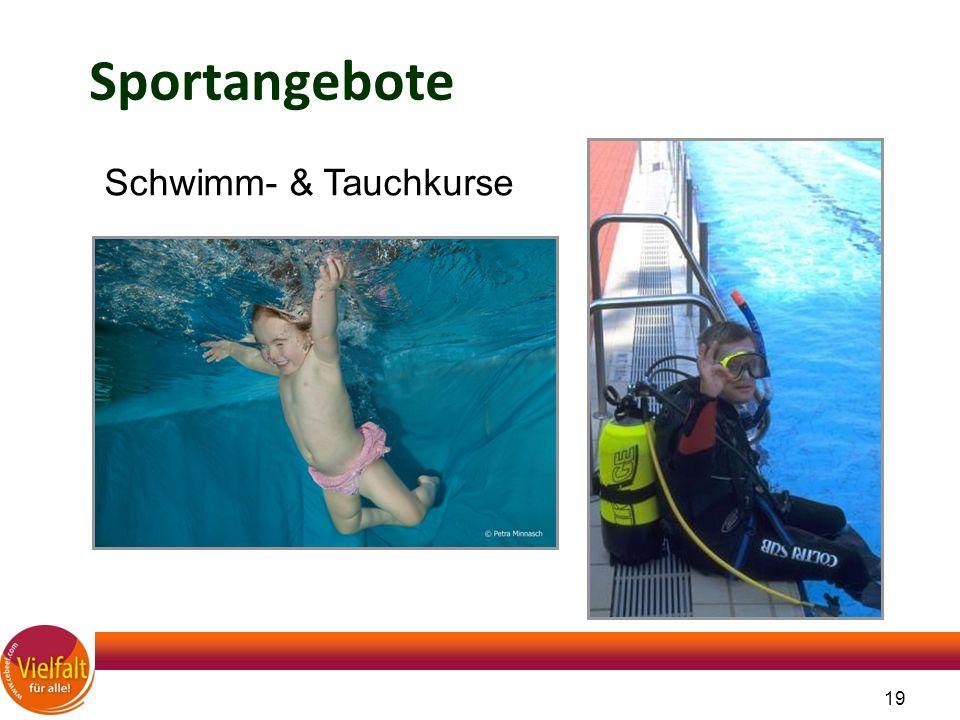 19 Sportangebote Schwimm- & Tauchkurse