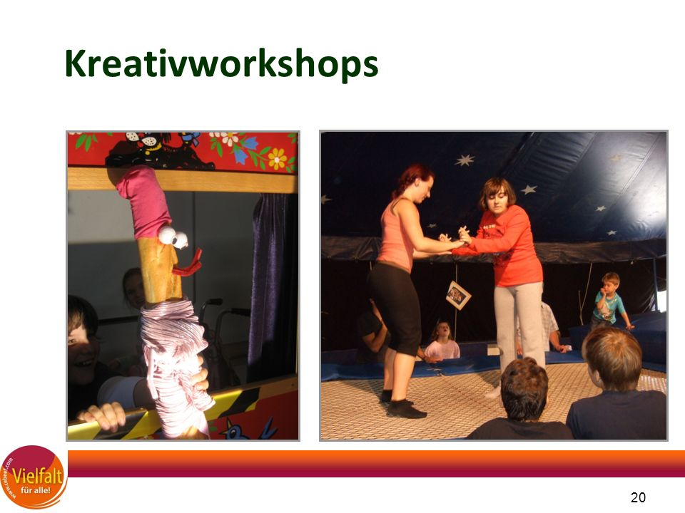 20 Kreativworkshops