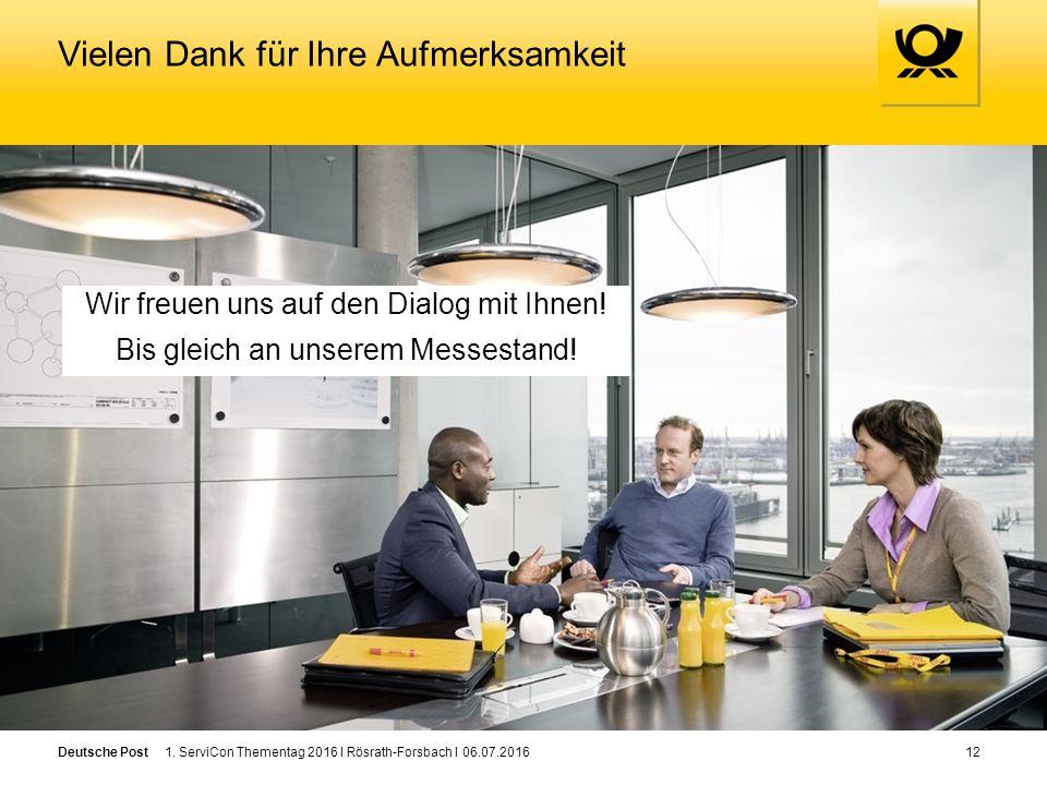 Deutsche Post Wir freuen uns auf den Dialog mit Ihnen.