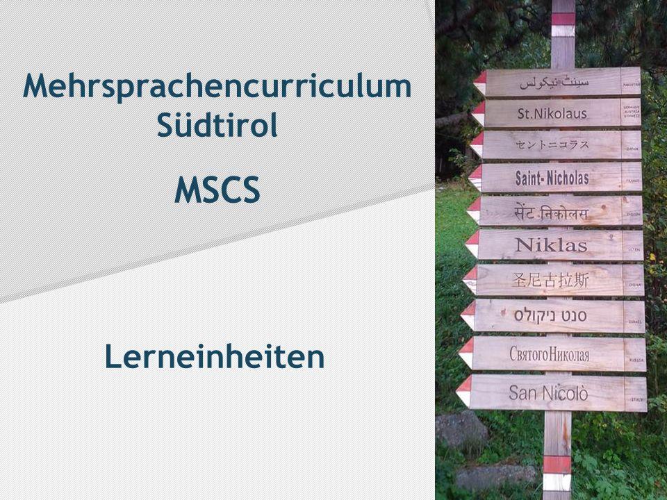 Mehrsprachencurriculum Südtirol MSCS Lerneinheiten