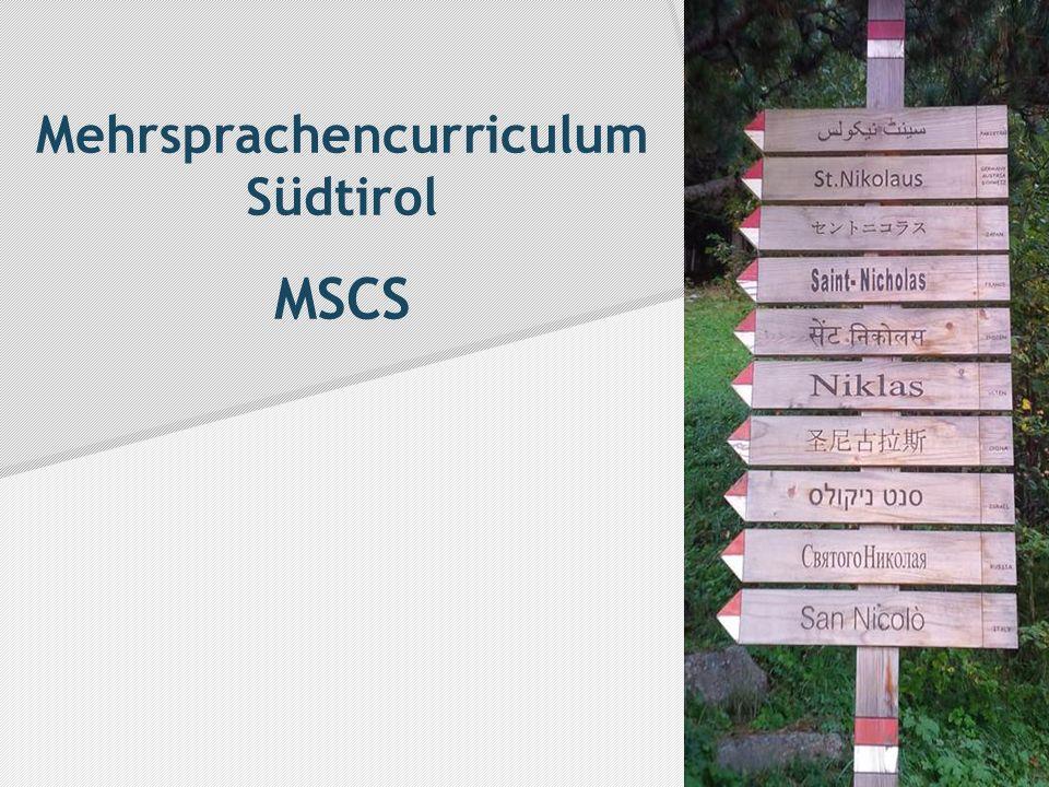 Mehrsprachencurriculum Südtirol MSCS
