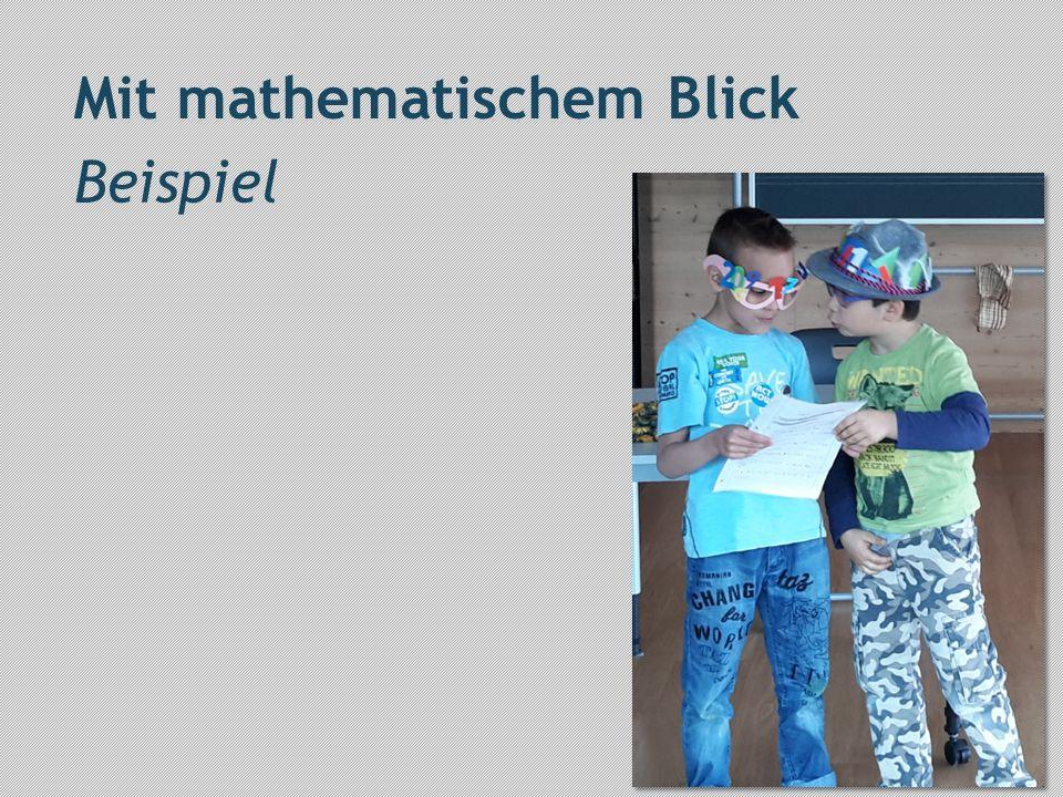 Mit mathematischem Blick Beispiel