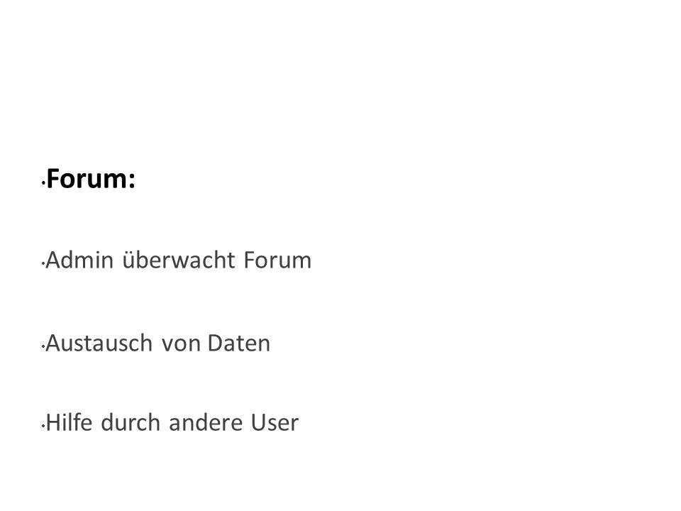 Wie Forum: Admin überwacht Forum Austausch von Daten Hilfe durch andere User