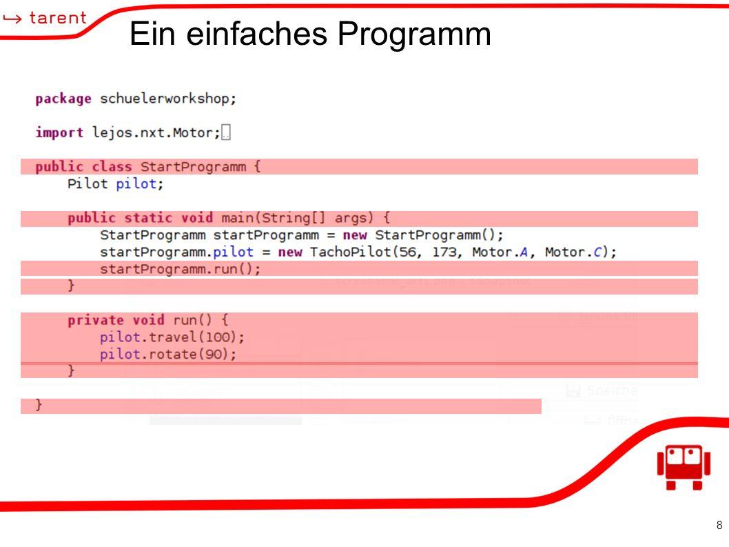 8 Ein einfaches Programm