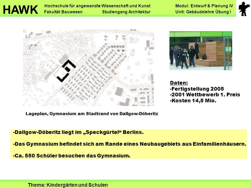 """Lageplan, Gymnasium am Stadtrand von Dallgow-Döberitz -Dallgow-Döberitz liegt im """"Speckgürtel Berlins."""