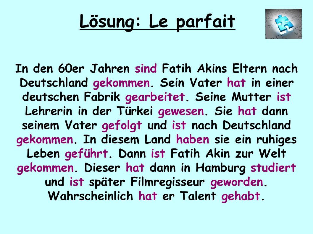 In den 60er Jahren sind Fatih Akins Eltern nach Deutschland gekommen.