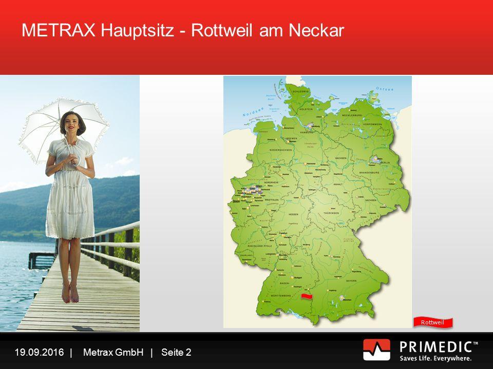 19.09.2016 | Metrax GmbH | Seite 1 Jede Minute zählt - wie Sie mit PRIMEDIC TM Defibrillatoren erfolgreich Leben retten 2013