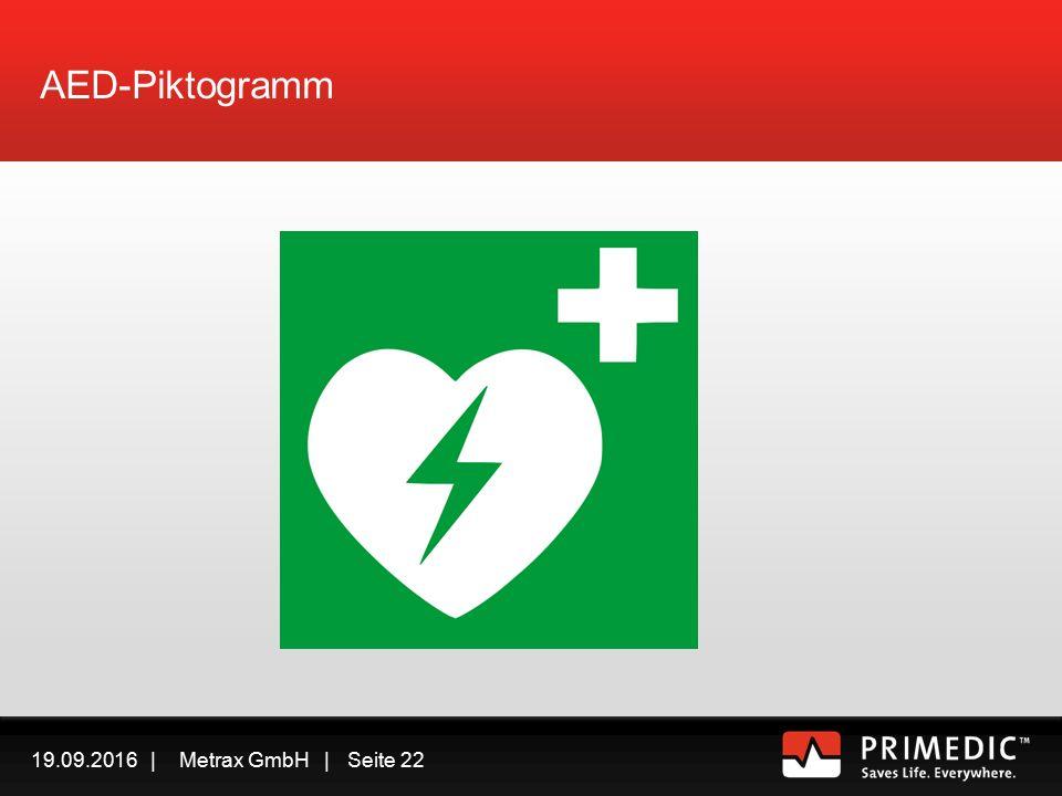 19.09.2016 | Metrax GmbH | Seite 21 Rettungskette mit AED In Sicherheit bringen Ansprechbar/Bewusstlos.