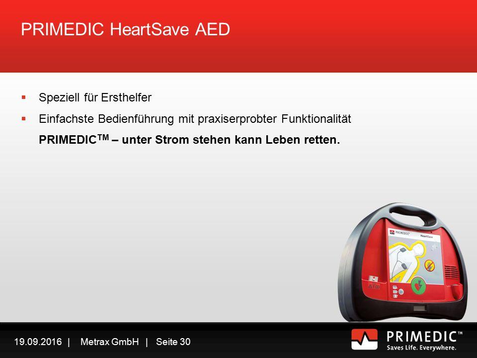 19.09.2016 | Metrax GmbH | Seite 29 AED Automatischer Externer Defibrillator PRIMEDIC TM HeartSave