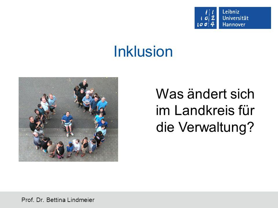 Inklusion Prof. Dr. Bettina Lindmeier Was ändert sich im Landkreis für die Verwaltung?