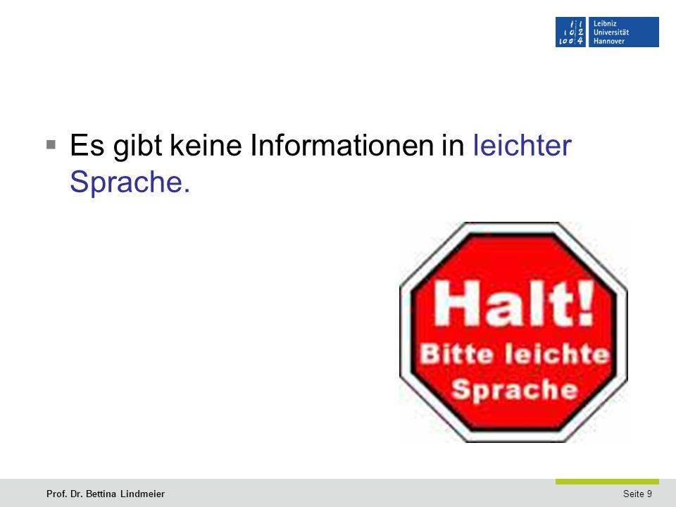 Seite 9Prof. Dr. Bettina Lindmeier  Es gibt keine Informationen in leichter Sprache.