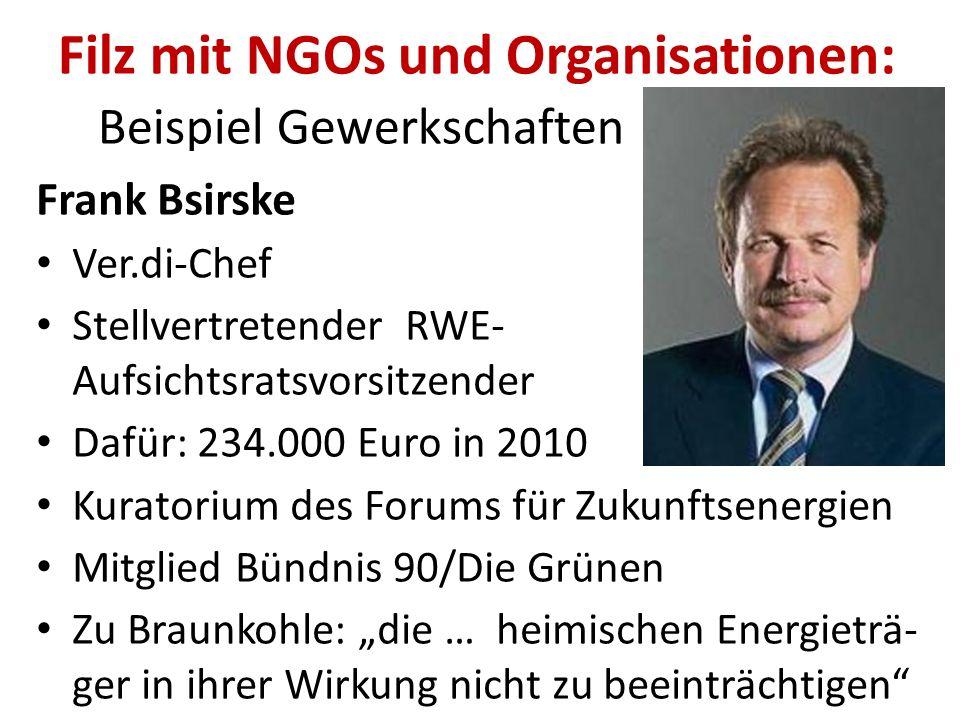 """Filz mit NGOs und Organisationen: Beispiel Gewerkschaften IG Bergbau, Chemie, Energie pro Braunkohle Unterschriftensammlung """"Pro Lausitzer Braunkohle"""""""