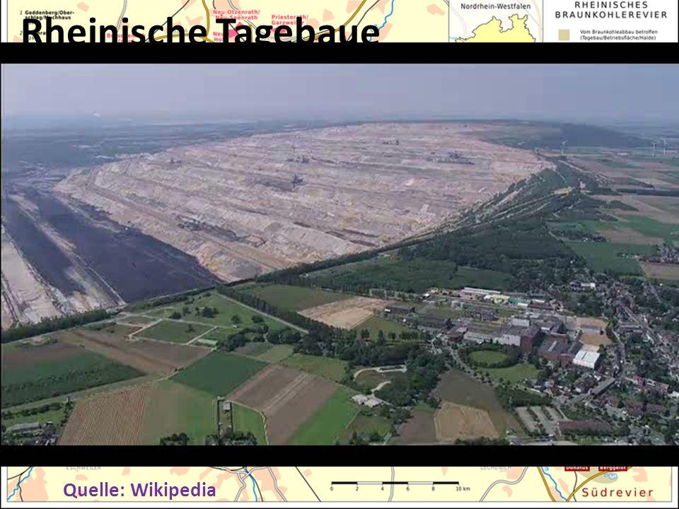 Trotzdem: Mehr Braunkohle! Rheinische Tagebaue Quelle: Wikipedia Erweiterung Tagebaue Inden und Hambach Neubau Kraftwerk Niederaußem Erweiterung Tageb
