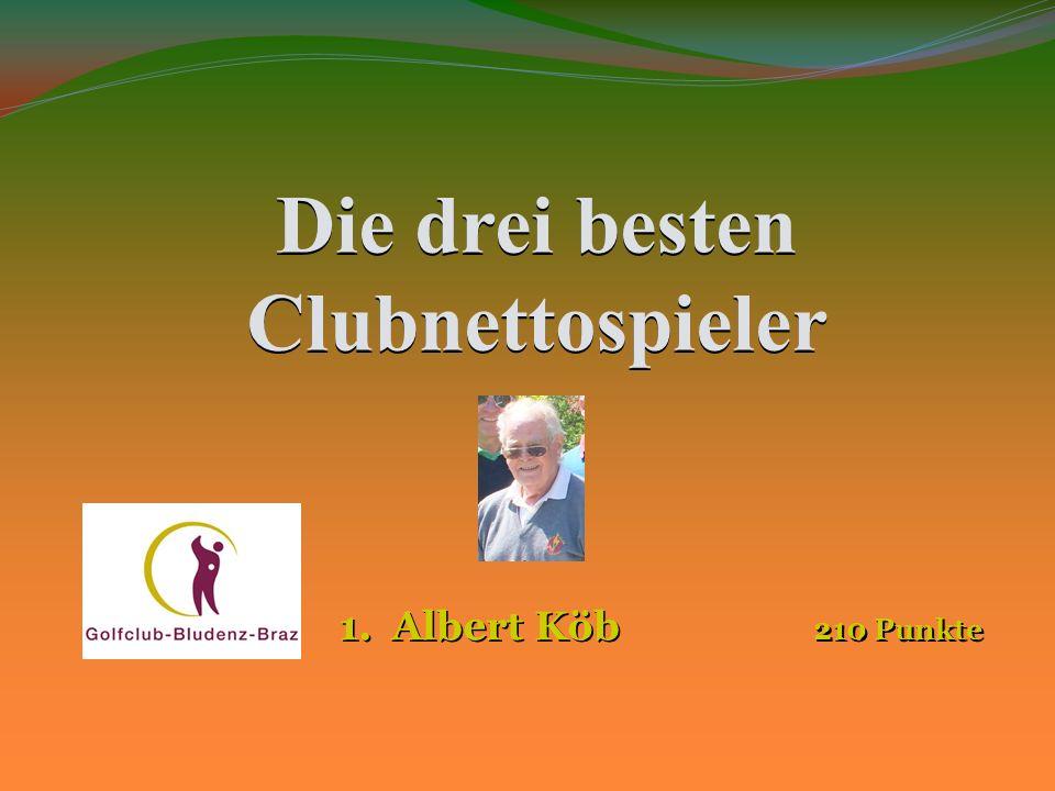 Die drei besten Clubnettospieler 1.Walter Sinnhuber 239Punkte 2.Gotthard Vorderegger 232 Punkte 2.