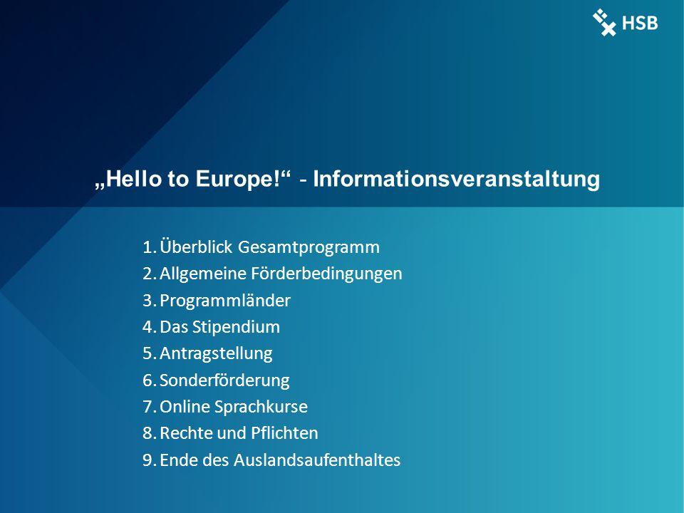 "International Office - Ilka Knippel ©HSB 3 ERASMUS + ""Hello to Europe! - Informationsveranstaltung 1."