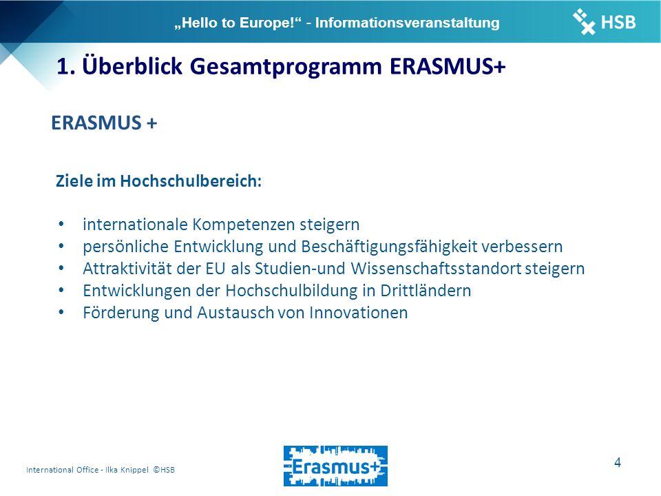 "International Office - Ilka Knippel ©HSB 15 ""Hello to Europe! - Informationsveranstaltung 6."