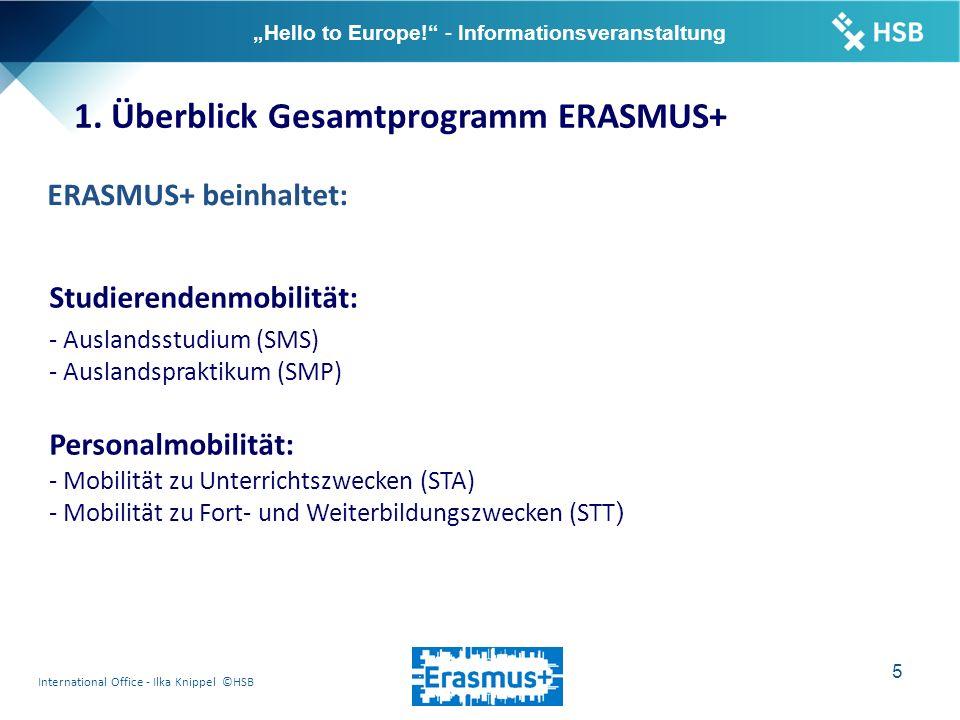 "International Office - Ilka Knippel ©HSB 16 ""Hello to Europe! - Informationsveranstaltung 7."