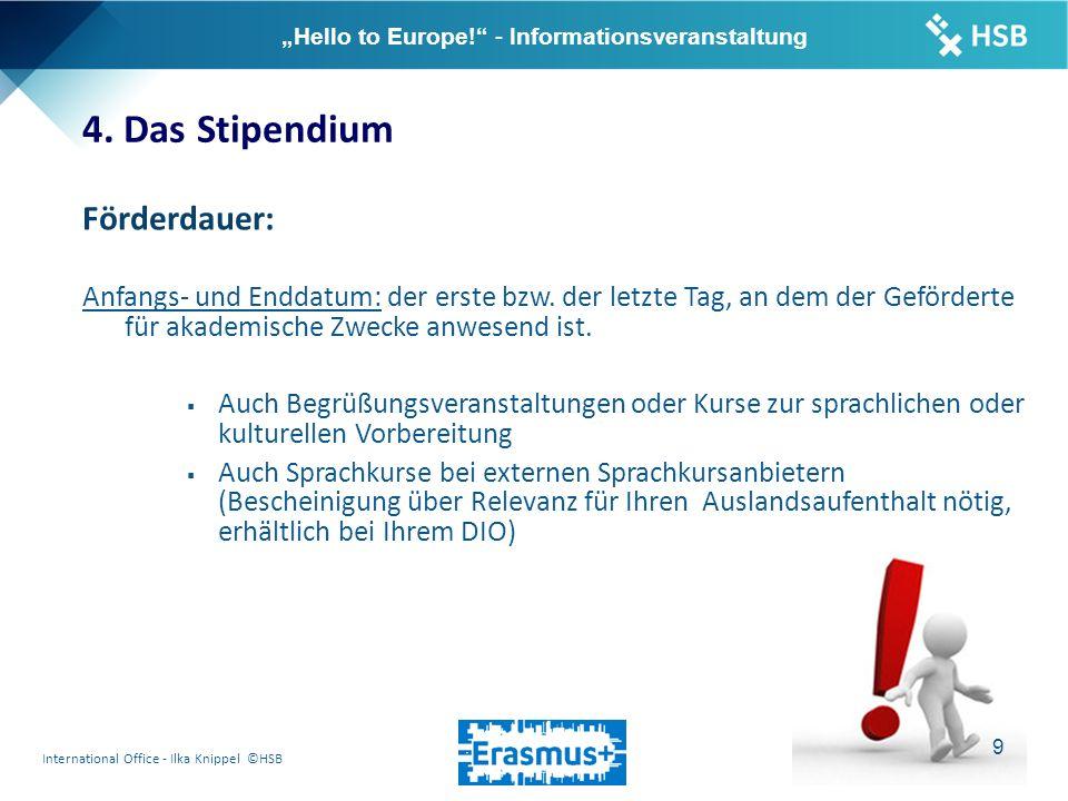"International Office - Ilka Knippel ©HSB 10 ""Hello to Europe! - Informationsveranstaltung 4."