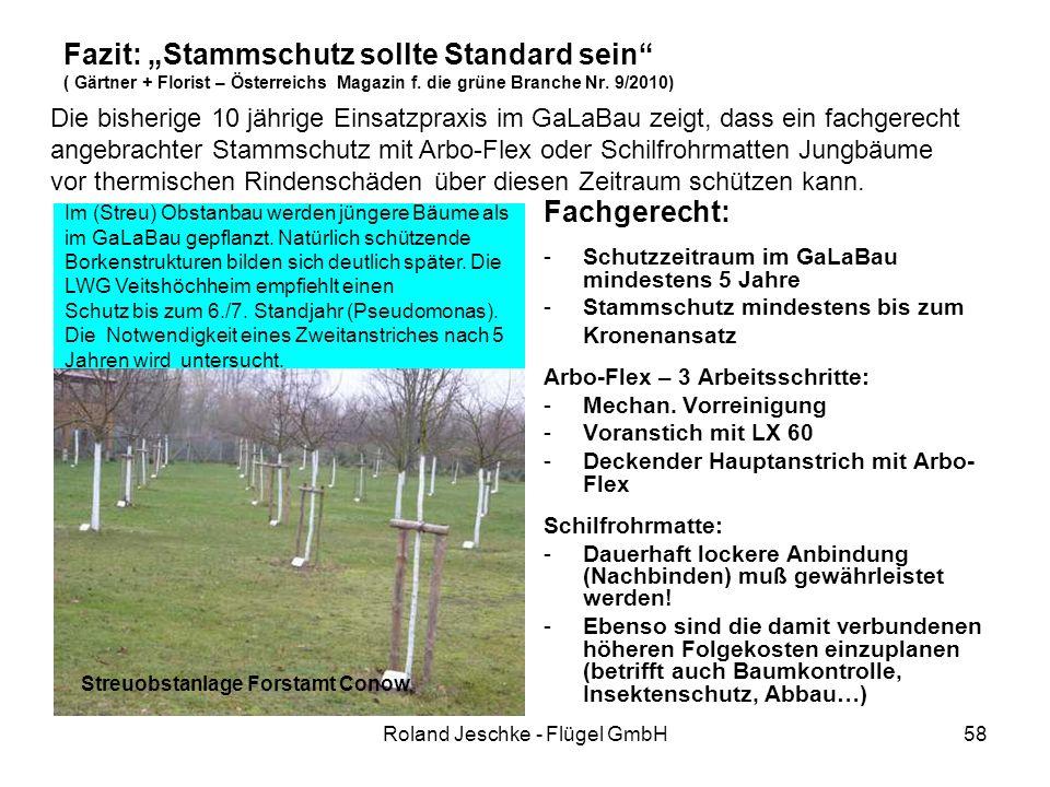 """Roland Jeschke - Flügel GmbH58 Fazit: """"Stammschutz sollte Standard sein ( Gärtner + Florist – Österreichs Magazin f."""
